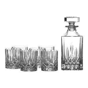 royal-doulton-crystal-28-ounce-decanter-six-11-ounce-old-fashioned-glasses