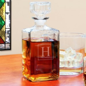 Personalized Whiskey Decanter Monogram Decanter