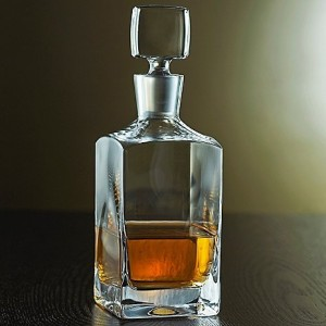 Denizli Spirits Old-Fashioned Whiskey Bottle Handmade Crystal Decanter