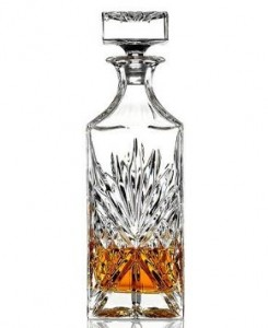 James Scott Crystal Liquor Whiskey and Wine Decanter Irish Cut 1 Piece 750ml